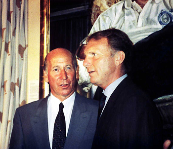 Bobby Charlton and Bobby Moore
